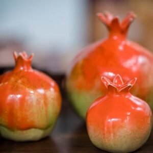 Red Ceramic Pomegranate